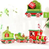 2018 Joyeux Noël Train En Bois De Noël Petit Train Ornements De Noël Pendentif Pour L'anniversaire Et Festival Cadeaux