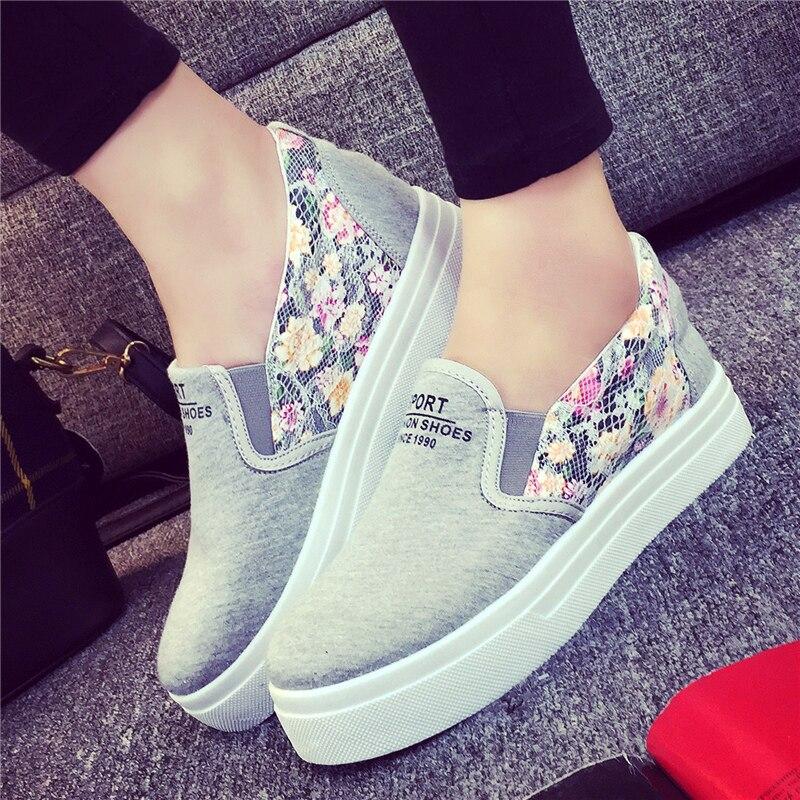 2016 весна и лето низкий , чтобы помочь педали ленивый обувь тяжелых - дном обувь студент плоской подошве свободного покроя обувь холст обувь