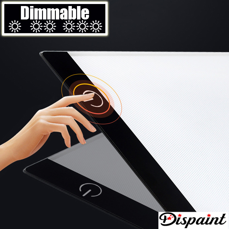 Dimmerabile-Ultrasottile-A4-HA-CONDOTTO-LA-Luce-Tablet-Pad-Applicare-per-EU-UK-AU-US-Spina (1)