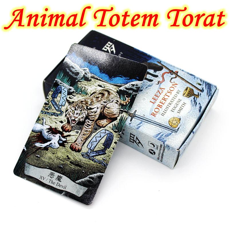 New Design Attractive Cards Animal Totem Tarot Board Game 78 PCS/Set Cards Game Edition Tarot Board Game For Family tuan l witchy tarot 78 карт