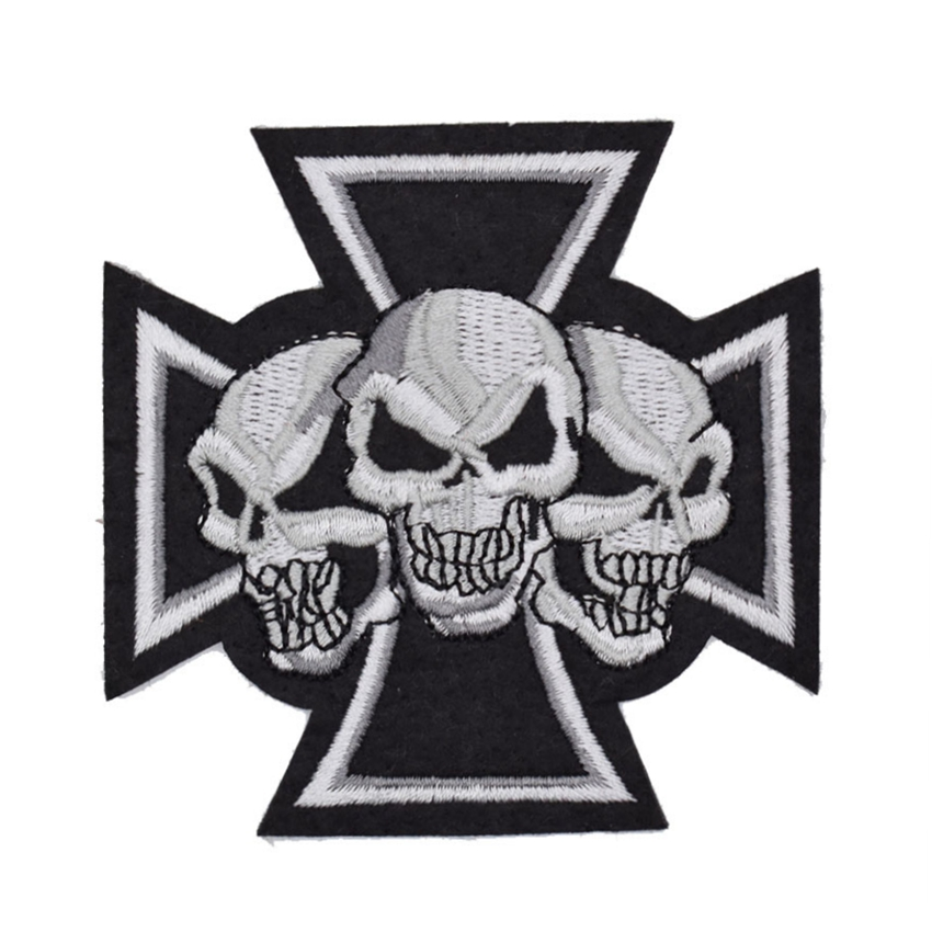 Three Ghost Skeleton Skull Bone patch Symbol Jacket T shirt Patch Iron on Embroidered Punk Rock