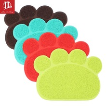 * Colorido PVC Encantador de La Pata Del Perro Forma de Alimentación Taza Placemat Mascota Cachorro Plato de Comida Tazón de limpieza Nuevos Manteles Almohadilla Limpie Fácil Limpieza