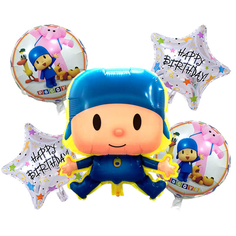 5 pçs/lote Pocoyo Balão Para A Decoração Do Casamento da Festa de Aniversário Dos Desenhos Animados 18 polegada Balões de Festa Balões Pocoyo Inflables Brinquedos Menino