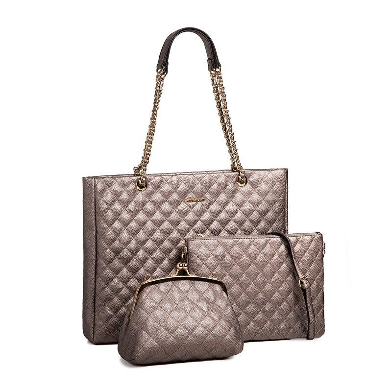 AMELIE GALANTI Комплект из трех Многофункциональный Для женщин сумки сплошной PU кожа Композитный сумка Кроссбоди плечо сумки для женщины