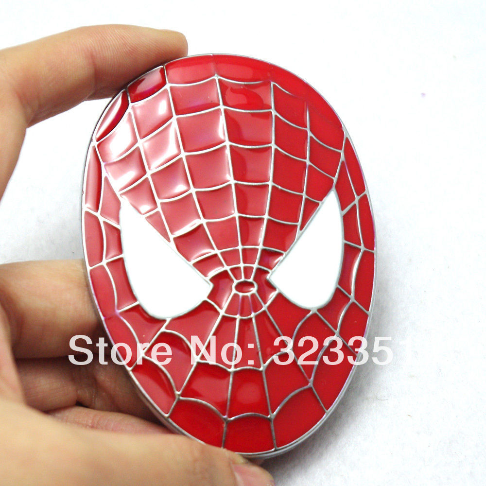 3D Spider Man <font><b>Spiderman</b></font> Face <font><b>Mask</b></font> Badge Emblem Decal Car Sticker Metal Adhesive