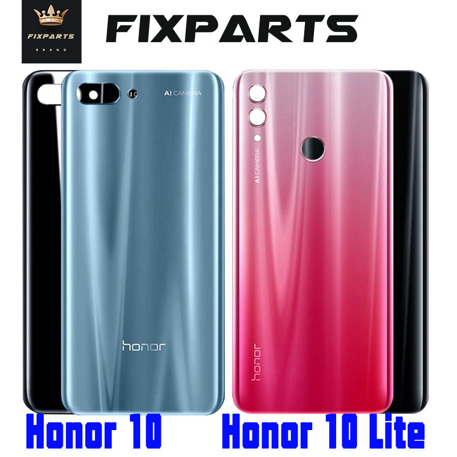 Original for Huawei Honor 10 Lite Honor 10 Back Battery Cover Honor10 Lite Back Glass Cover Honor10 Rear Door Housing Case Panel image