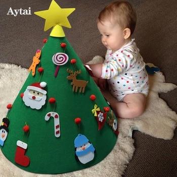 aytai 3d diy felt christmas tree kids new year gift toys small christmas tree christmas decorations for home new years decor - Christmas Tree Toy Decorations