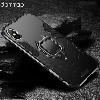 daTTap Magnetic Car Holder Case For iPhone XS Max XR Case 360 Rotating Finger Ring Phone Cover For iPhone XR XS MAX Coque Fundas iPhone XS