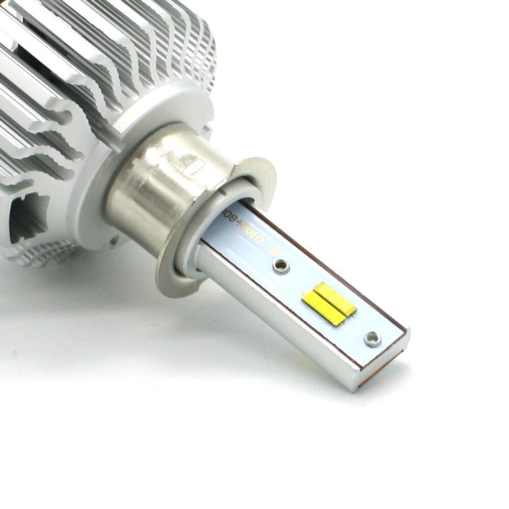 3 couleur interrupteur CSP H3 phare LED lumière courante 8000LM 3000 K 4300 K 6000 K antibrouillard 3C KIT ampoule avant Automobiles