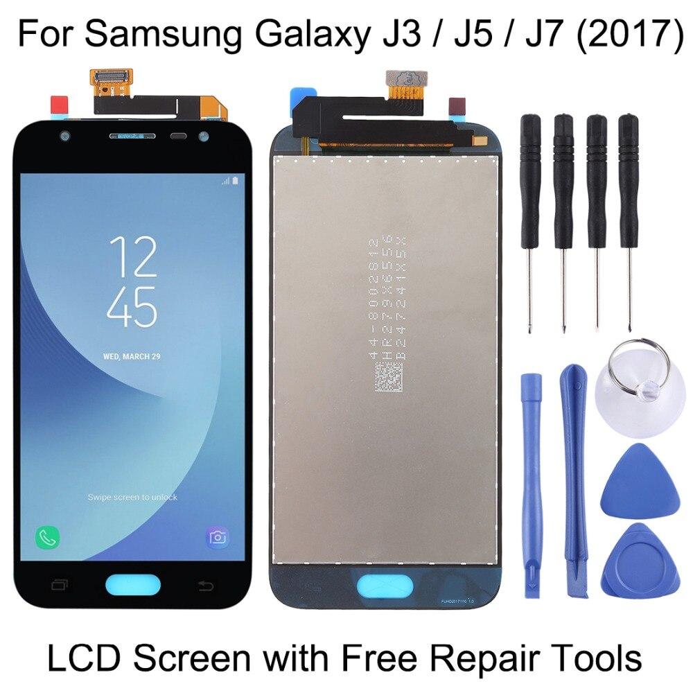 Écran LCD d'origine et numériseur complet pour Samsung Galaxy J3/J330/J5/J530/J7/J730 (2017)