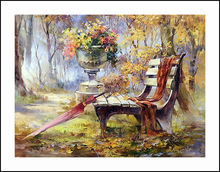 Chair in the Park Diamond Embroidery 5D Painting Cross Stitch Mosaic Pattern Square Rhinestone needlework gift Home Decor G240