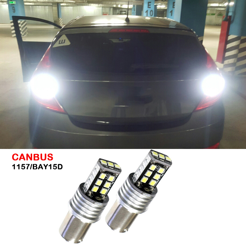 Canbus 1157 LED BAY15D Tail Stop Brake Reverse Light Signal Lamp For Hyundai Tucson Accent Santa Fe Elantra Sonata Coupe Genesis accent verna solaris for hyundai led tail lamp 2011 2013 year red color yz