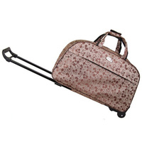 Dotted Soft Hand Luggage Trolley Traveling Bag on Wheels Luggage Bag Mickey Weekender Bag Travel Women