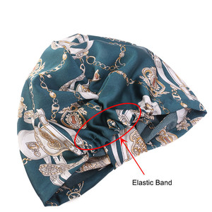 Image 5 - Muslim Women Silky Sleeping Turban Hat Cancer  Chemo Beanies Bonnet Cap Bandans Headwear Head Wrap Hair Accessories