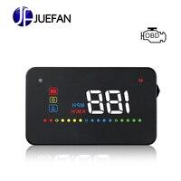 JUEFAN A200 OBD II or EUOBD HUD projector car speed projector Speed alarm HUD projector Head UP display Windshield Digital