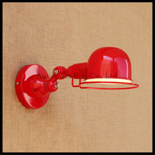 Nordic Modern Designer Red Wall Sconce Modern Minimalist LED Wall Lamp Balcony Stairs Light bedside study lighting fixture decor