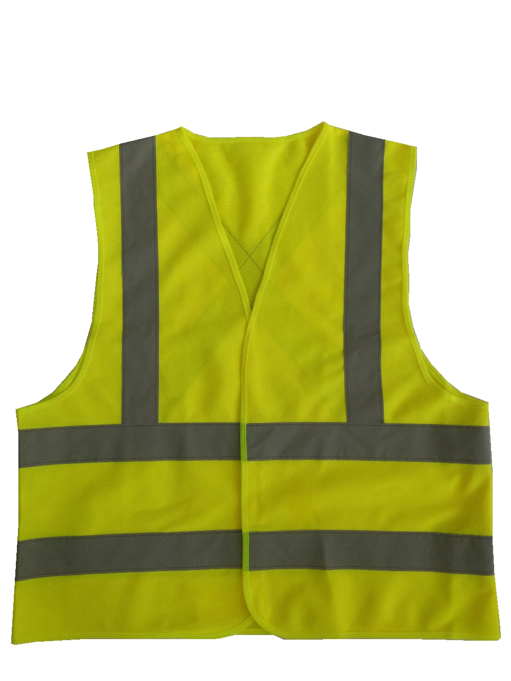 Yellow Reflective Vest Reflective Jacket High visibility knitted reflective safety vest logo printing Vest Safety on Road fluorescence yellow high visibility