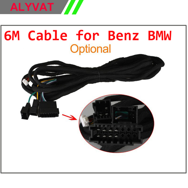 Special Extra Long ISO Wiring Harness 6M Cable For Benz BMW E38 E39