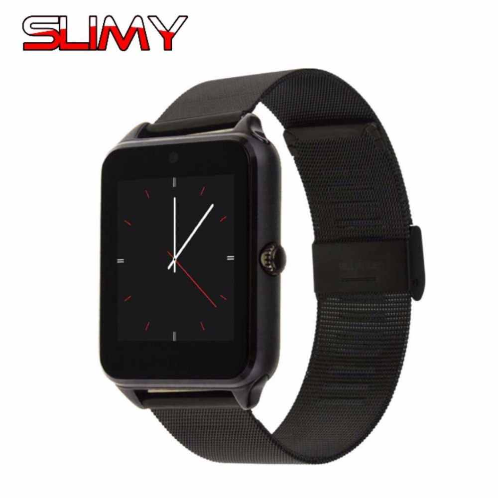 Slimy Z60 Smart Watch Metal Strap Hours Bluetooth Connectivity Android Phone Sync Notifier Push Messages Smartwatch GT08 Plus