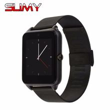 Slimy Z60 Smart Watch Metal Strap Hours Bluetooth Connectivity Android Phone Sync Notifier Push Messages Smartwatch GT08 Plus(China)