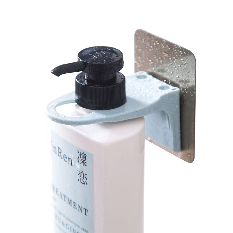 Hanger Holder Wall Mounted Soap Bottle Hanging Organizer Hook Shampoo