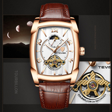 Business Mechanical Watches Mens Automatic Watch Men Leather Strap Male Wristwatch