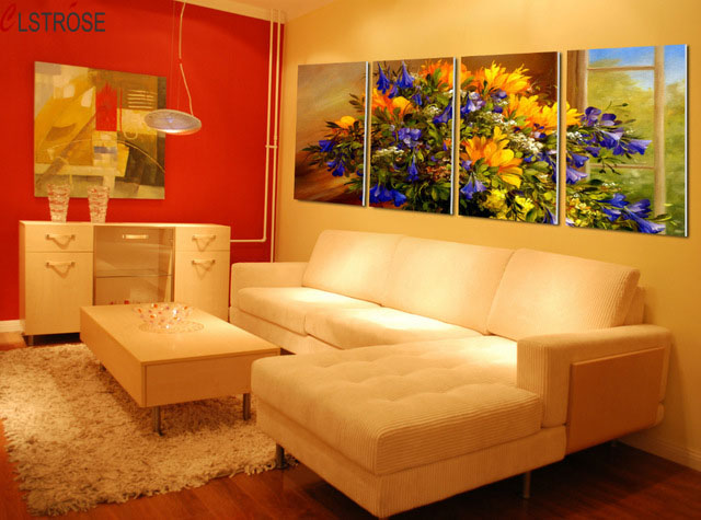 CLSTROSE Canvas Painting Flower Canvas Wall Art Paintings For Living ...