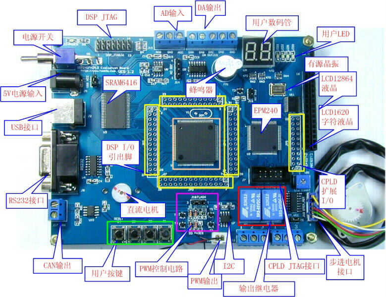 DSP2407 CPLD EPM240 Development Board