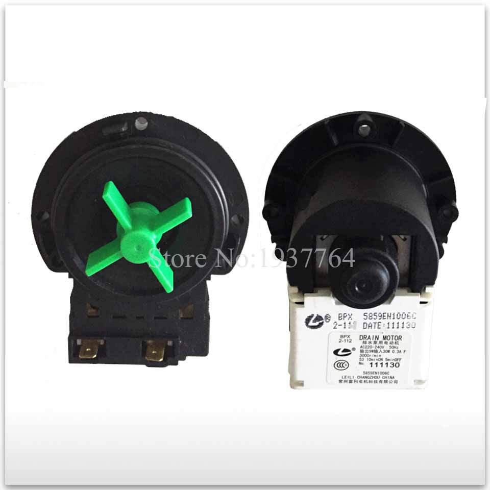 for second-hand washing machine parts BPX2- 111 drain pump motor 30W good working 1pcs new parts drain pump bpx2 8 drain pump motor good working