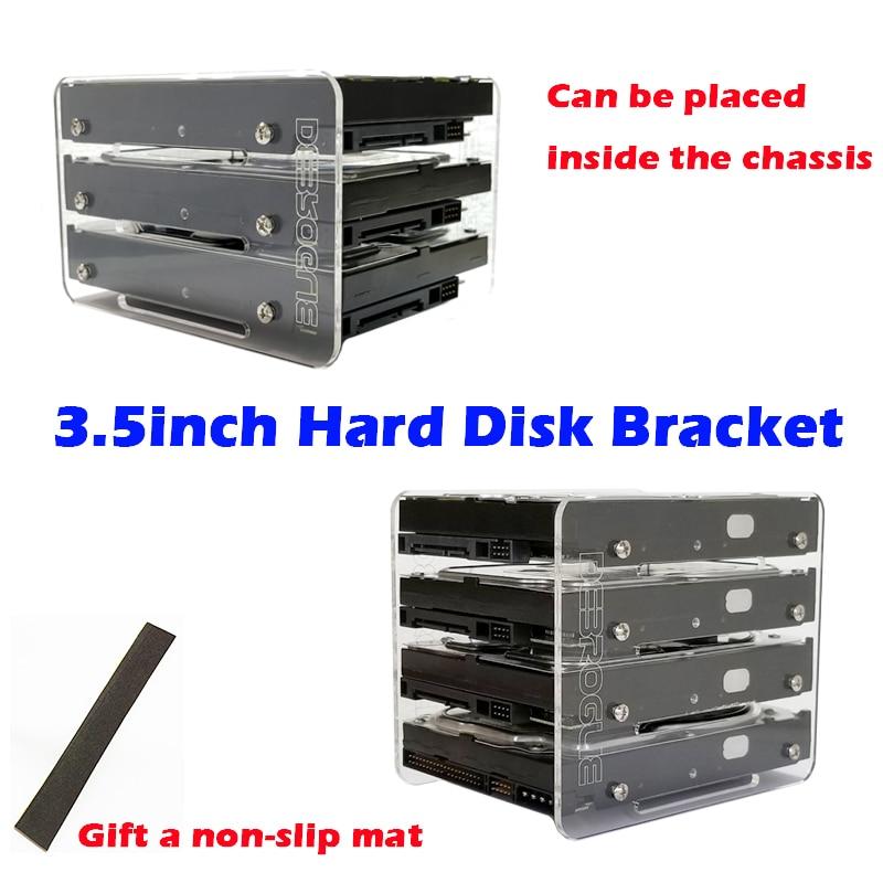 DIY3.5 Inch Hard Disk HDD Acrylic Bracket Hard Disk Box External Hard Disk 4F
