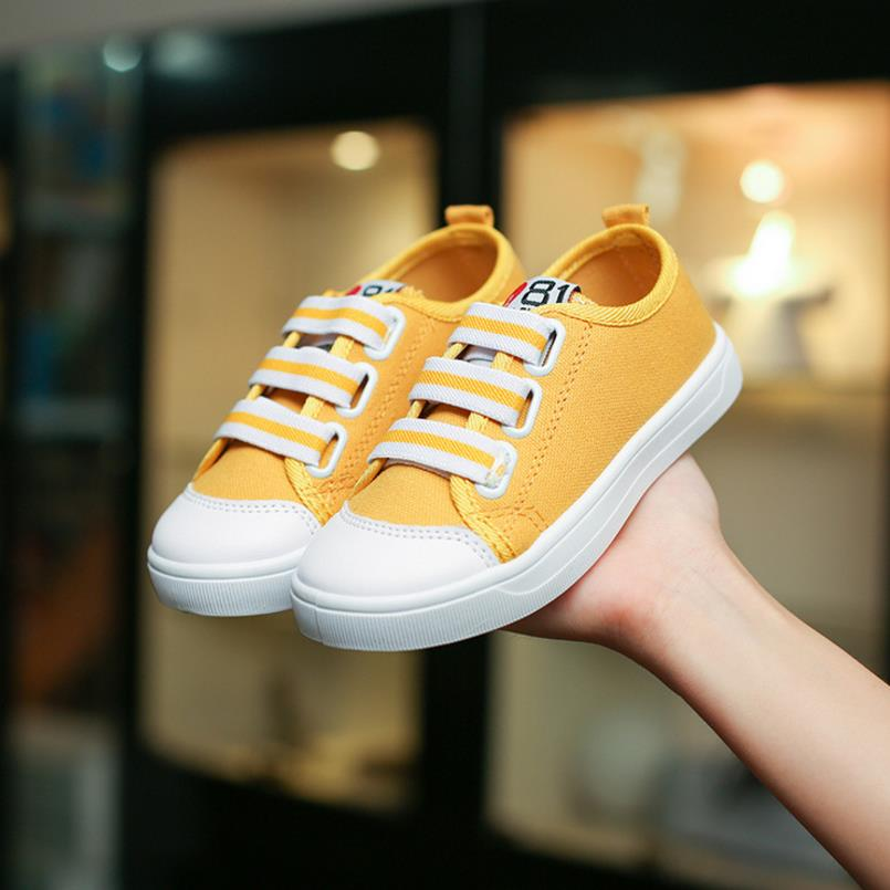 HaoChengJiaDe Children Solid Color Casual Canvas Shoes Boys Girls Shoes Fashion Sneaker Outdoor Sports Shoes For Kids Size 26-36