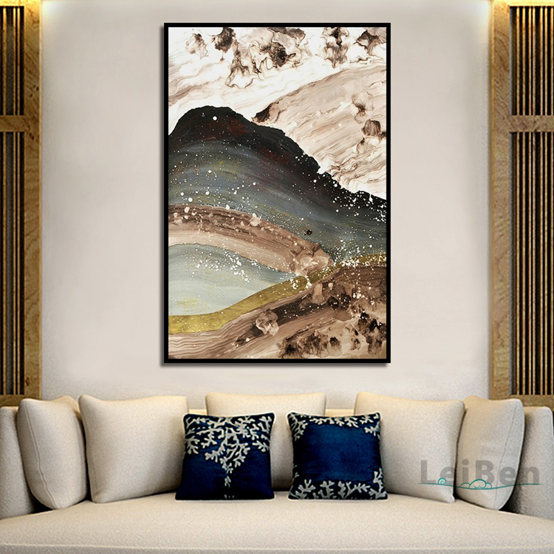 Abstract Retro Art Ink Painting Modern Home Decoration Canvas Painting Print Poster Picture Bedroom Wall Art Decoration Custom