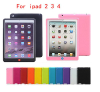 Candy Color Soft Jelly Silicone Rubber TPU Case For IPad 2 3 4 Gel Case Skin
