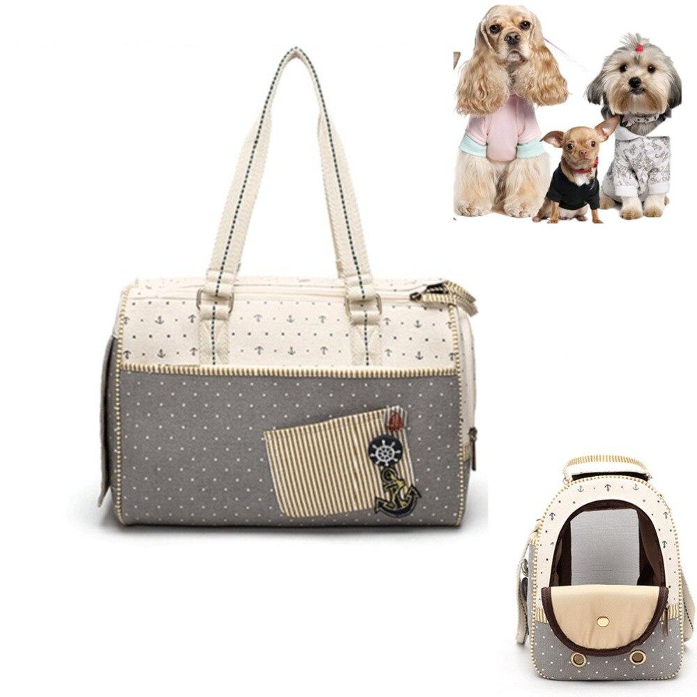 H78 новый дизайн моды Собаки Кошки несущей Портативный дышащая Pet Открытый Путешествие Холст сумка для переноски для щенков маленький собака...