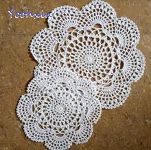 TOP Round lace cotton table place mat crochet coffee placemat pad Christmas felt drink coaster cup mug tea dining doily kitchen modern round lace cotton table place mat crochet coffee placemat pad christmas drink coaster cup mug tea dining doily kitchen