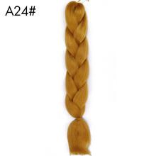 AISI BEAUTY 100g paczka 24inch Kanekalon Jumbo warkocze włosy Ombre dwa Tone kolorowe syntetyczne włosy dla lalek szydełkowe włosy tanie tanio W mieście kanekalon AISI PIĘKNO 1nitki opakowanie