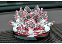 Elegante Huwelijksgeschenken kristal lotus groothandel lotus bloem kaarshouder met base