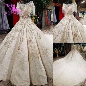 Image 5 - AIJINGYU 웨딩 간단한 드레스 집시 스타일 가운 2021 빅 사이즈 약혼 공주 기차 사용자 정의 가운 대체 웨딩 드레스
