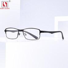 купить Classic Retro Men Women Reading Glasses Resin Lenses Anti-Fatigue Presbyopic Square Metal Frame Computer Eyewear по цене 883.83 рублей