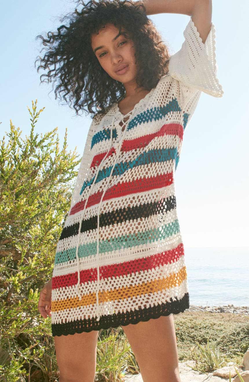 Saida De Praia Feminino 2019 Plus Size Boho Dresses For Women Crochet  Dresses Summer Beach Wear Beach Dress Tunic Short Frocks