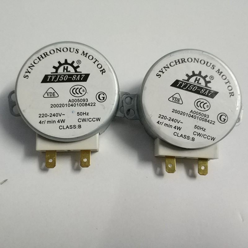 2pcs New 220V microwave oven motor tyj50-8a7 General midea galanz LG haier synchronous motor Motor for microwave oven