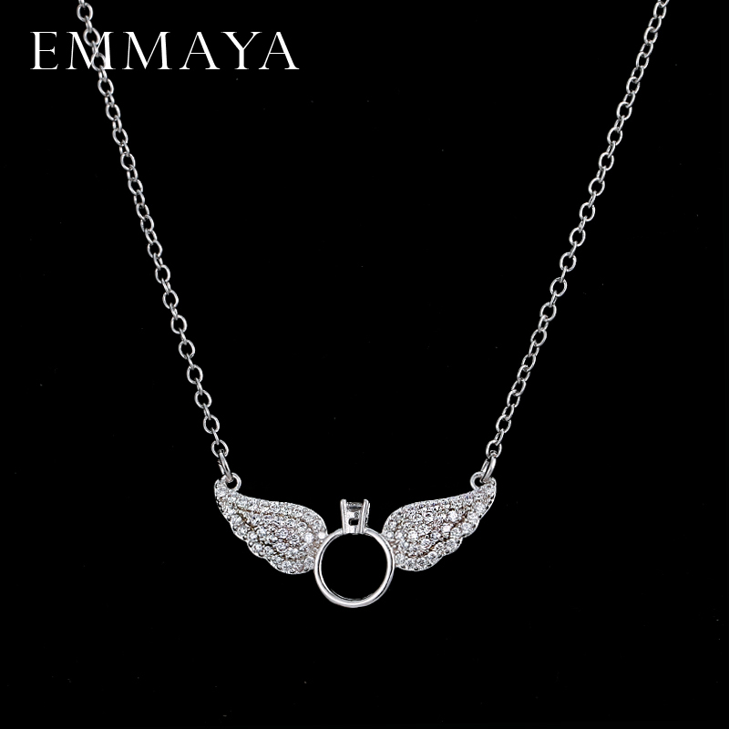 EMMAYA Brightly New Statement Choker Necklace Angel Wings Pendants Necklaces For Women Gifts