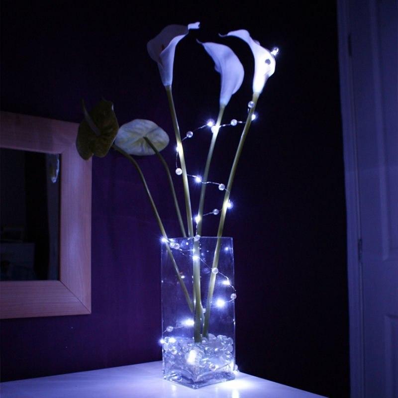 Sale CR2032 Coin Battery operated White led vine lights Wedding Decor LED String Light Long Lasting Batteries mini led lights