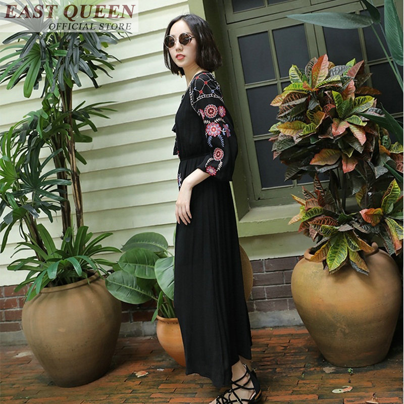 29e90d3c722 Hippie clothes hippie costume women white beach dress mexican dress clothes  summer dress boho clothing FF301-in Dresses from Women s Clothing on ...
