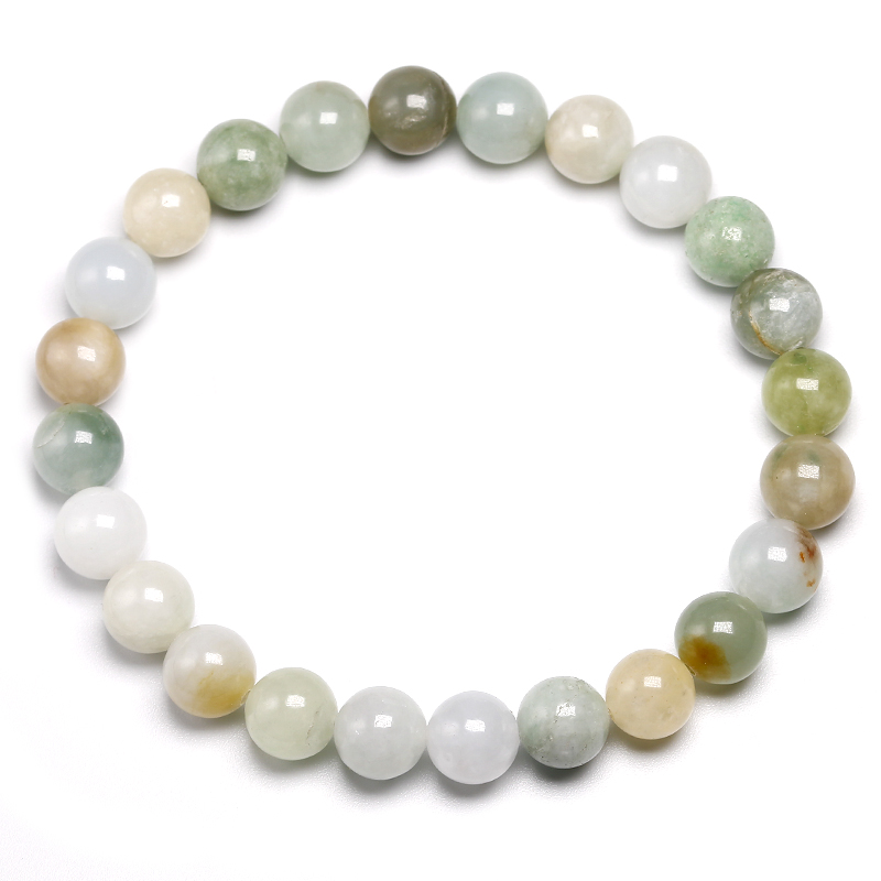 Certified 100/% Natural A Emerald Jade ~Bracelet Have certificate Bead size 12mm