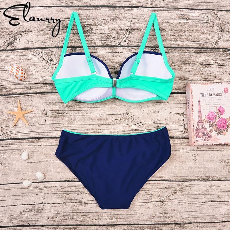 Elanrry Plus Size Bikini Sets 2017 Sexy Push Up Biquini Lady traje de - Ropa deportiva y accesorios - foto 6