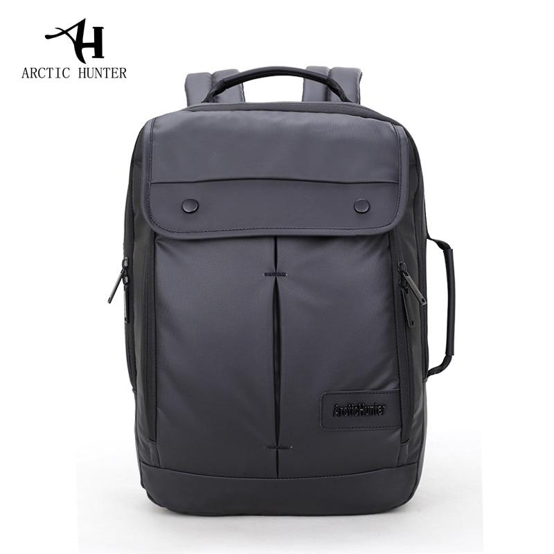ARCTIC HUNTER Business Backpack Business Bag For College Simple Design Men Casual Laptop Bag Computer Backpack Waterproof Cover casual waterproof simple men backpack