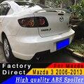 Для Mazda 3 M3 2006 до 2013 Седан задний крыло спойлер Высокое качество ABS спойлер из материала грунтовка или любой цвет для Mazda