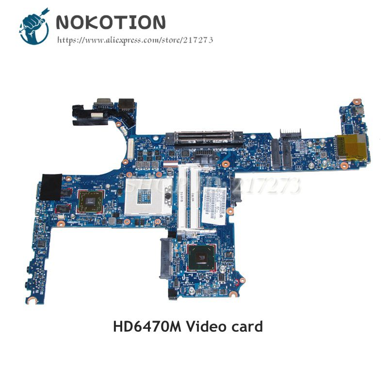 NOKOTION 642753-001 MAIN BOARD For <font><b>HP</b></font> Elitebook 6460P <font><b>8460P</b></font> Laptop <font><b>Motherboard</b></font> QM67 DDR3 HD6470M Video card image