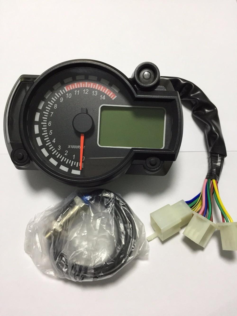 Eec bike digital speedometer motorcycle speed sensor260km h digital speedometer odometer dashboard motogp street bike in instruments from automobiles